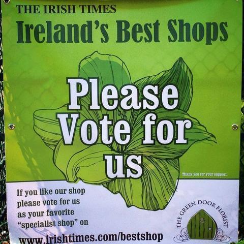 Please Vote For Us - Ireland's Best Shop Awards