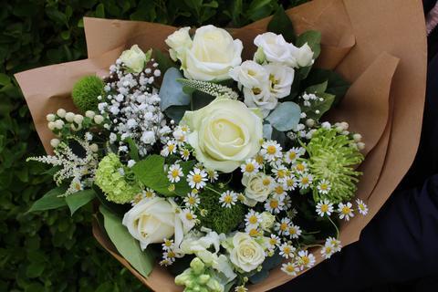 Alma's Pure White Bouquet