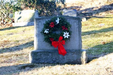Christmas Wreath on Grave