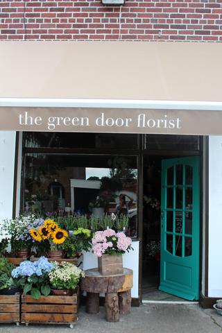 Flower Shop Front Green Door Florist