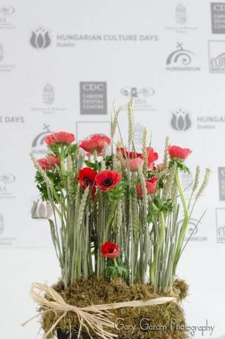 Hungarian Flag Flower Arrangement