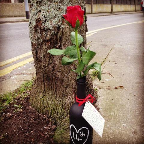 Lonely Bouquet in a Bottle