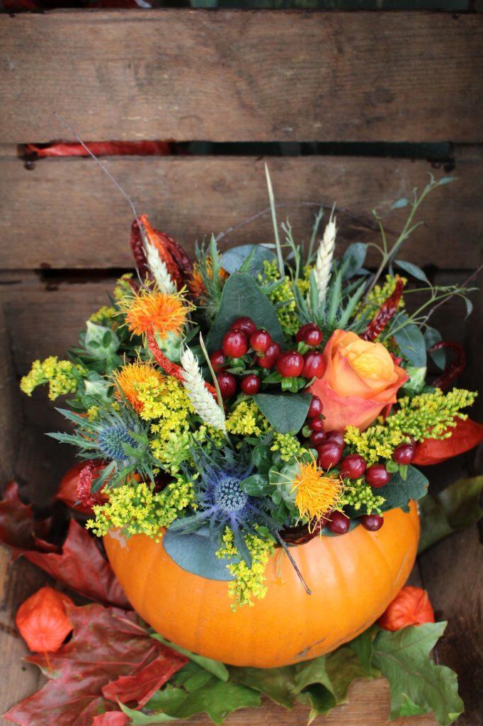 rustic pumpkin flower delivery